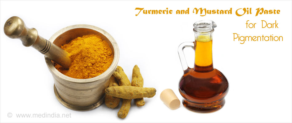How to get Rid of White Spots on Skin use Turmeric Powder and Mustard Oil