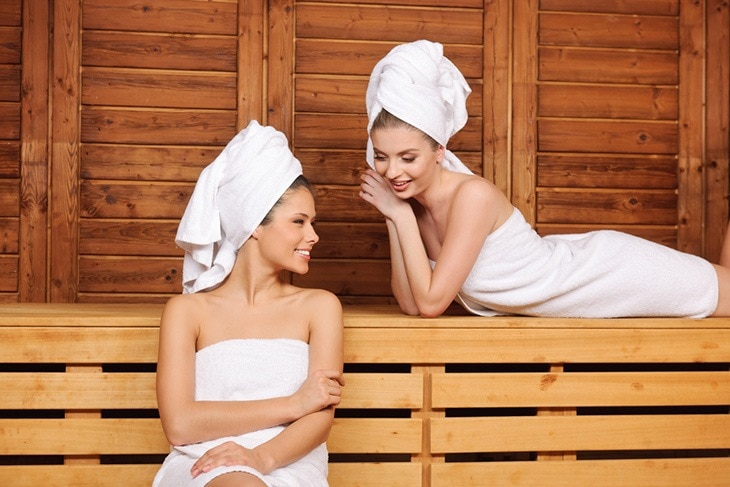 saunas give your hair that much needed glow