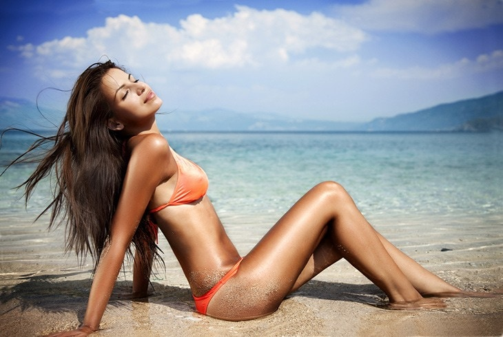 get the best tan by sun tanning